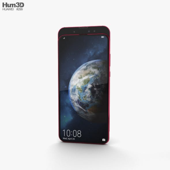 Honor Magic 2 Gradient Red - 3DOcean Item for Sale