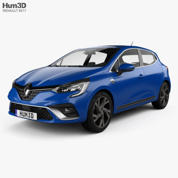 Renault Clio RS-Line hatchback 2019 - 3DOcean Item for Sale