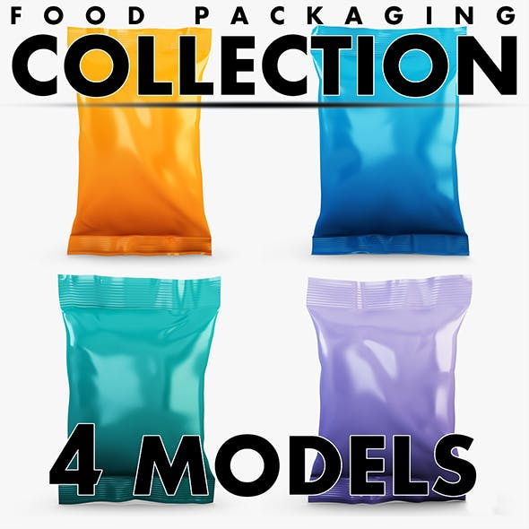 Food packaging collection volume 2 - 3DOcean Item for Sale