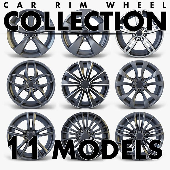 Car Rim Wheel Collection volume 2 - 3DOcean Item for Sale