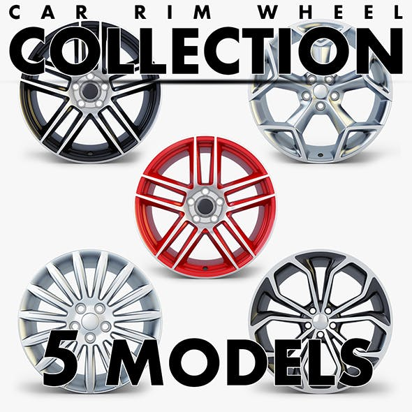 Car Rim Wheel Collection volume 3 - 3DOcean Item for Sale
