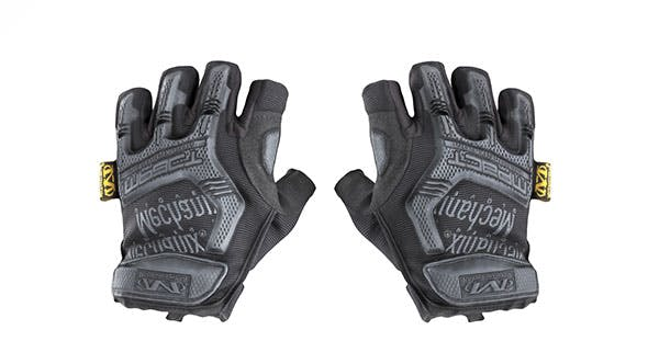 Military gloves half-finger of color black with PBR textures 17 - 3DOcean Item for Sale