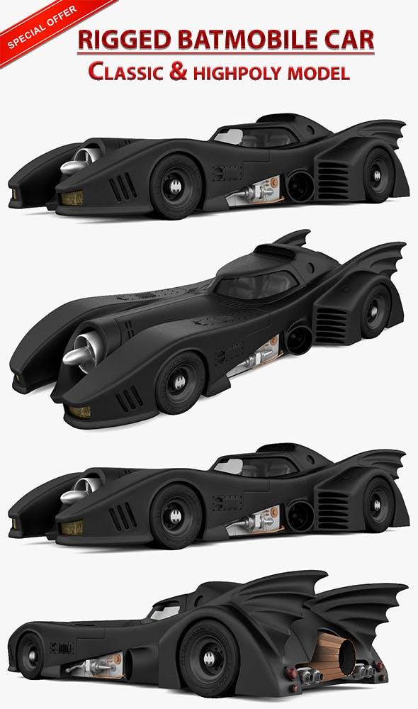 Batmobile vehicle - 3DOcean Item for Sale