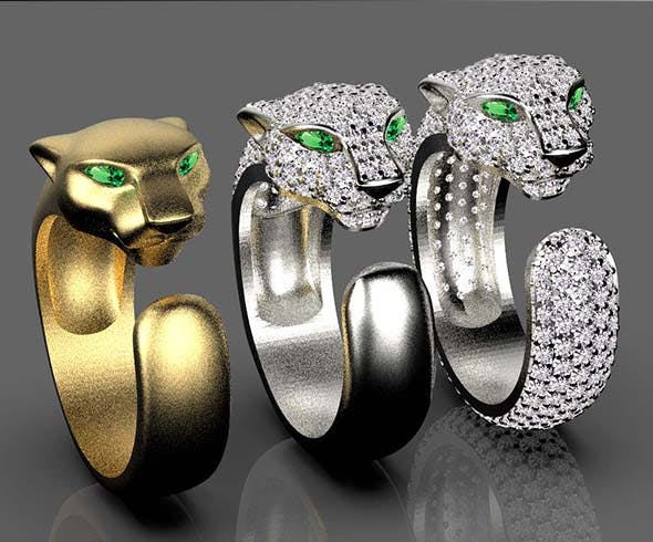 rings panthers - 3DOcean Item for Sale