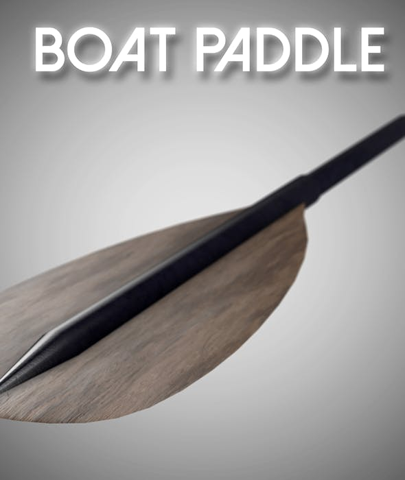 Boat Paddle - 3DOcean Item for Sale