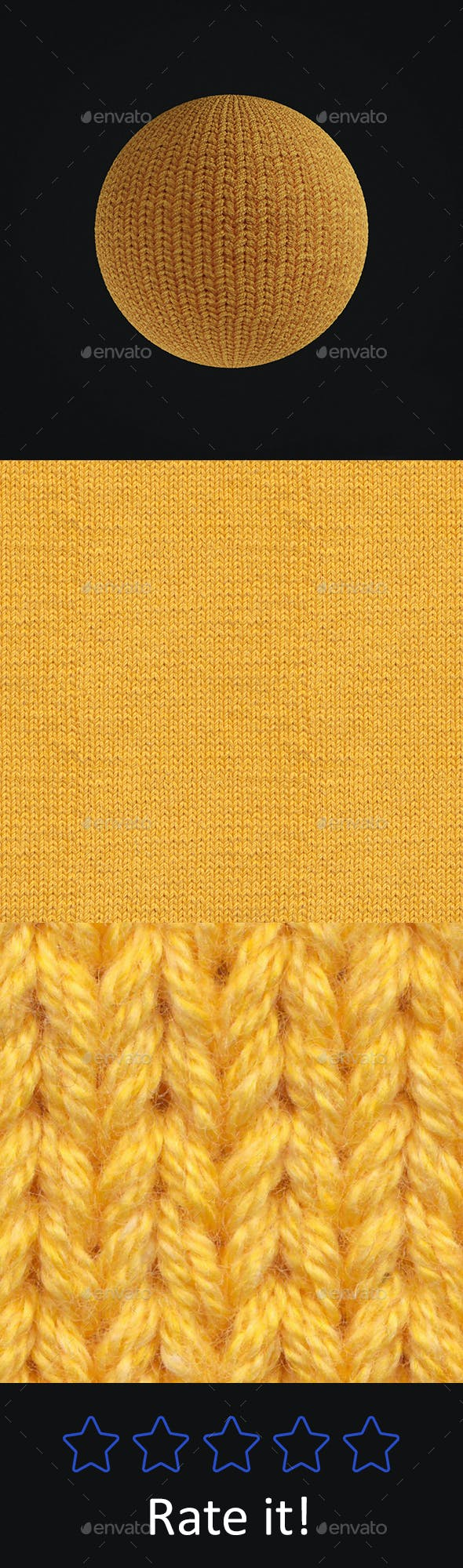 Yellow Wool Seamless Texture - 3DOcean Item for Sale
