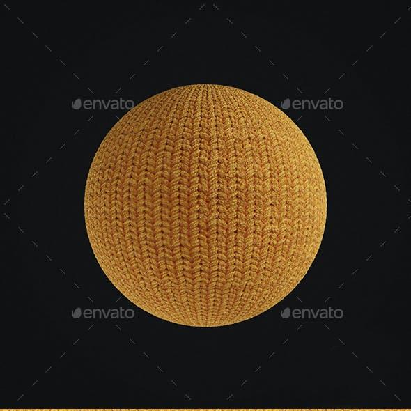 Yellow Wool Seamless Texture