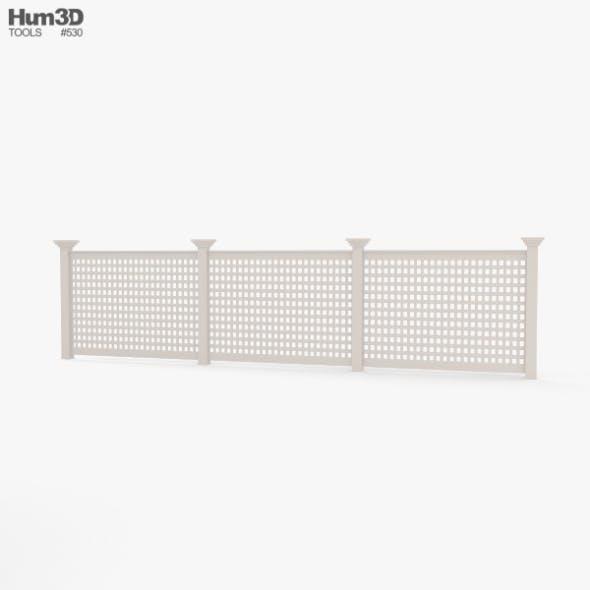 Vinyl Lattice Fence - 3DOcean Item for Sale