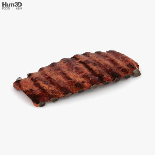 Barbecue Ribs - 3DOcean Item for Sale