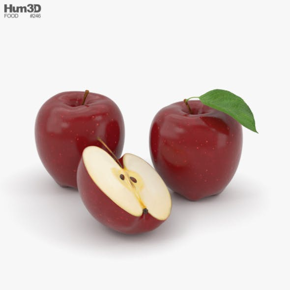 Red Apple - 3DOcean Item for Sale
