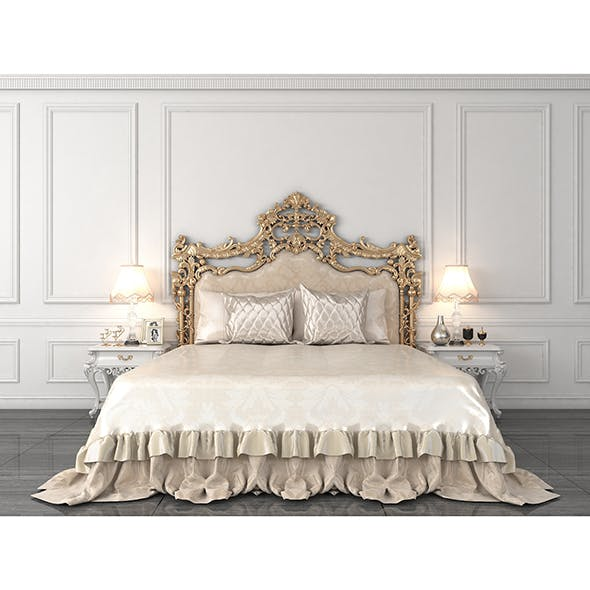 European Style Bed 3 - 3DOcean Item for Sale