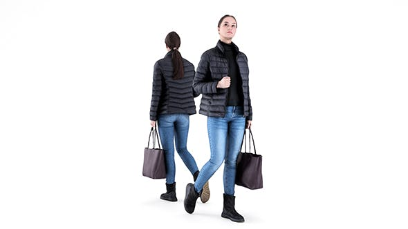 Woman street style 80 - 3DOcean Item for Sale