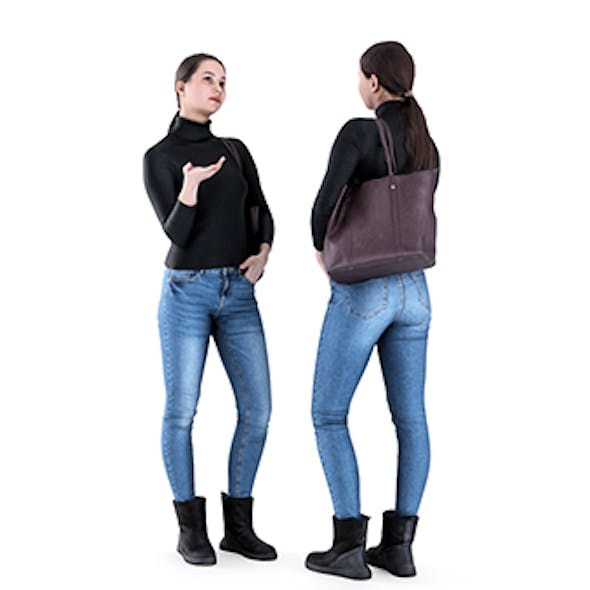 Woman casual style with a bag 82