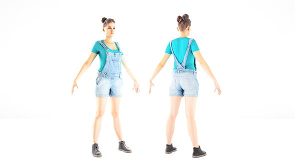 Female casual style with PBR textures 83 - 3DOcean Item for Sale