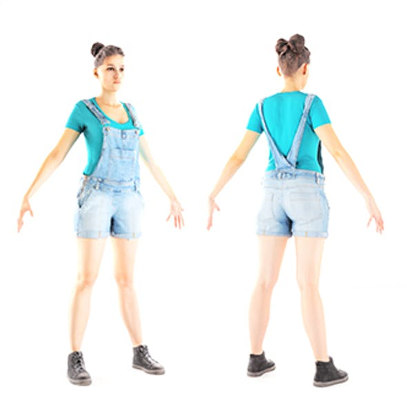 Female casual style with PBR textures 83
