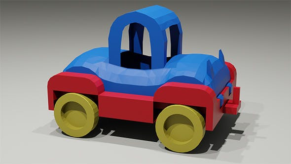 Toy low-poly Car - 3DOcean Item for Sale