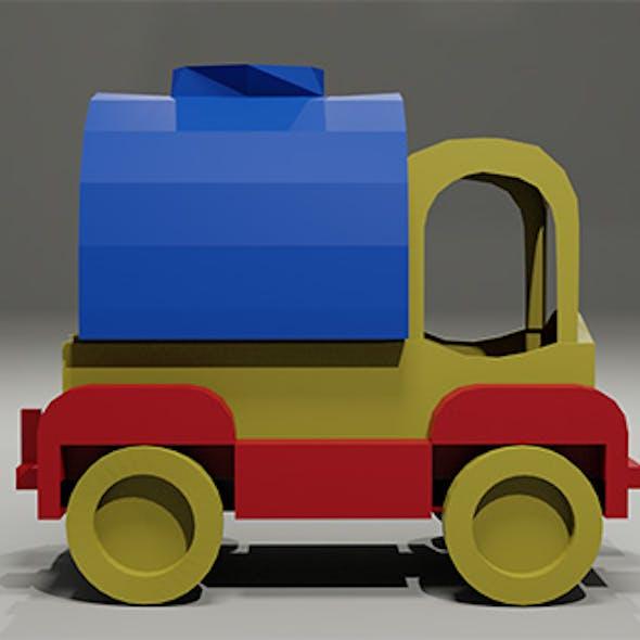Toy low-poly Car Milk tanker