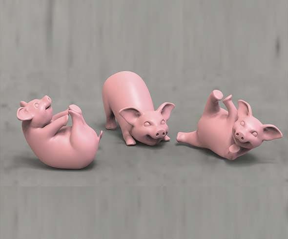 Pigs - 3DOcean Item for Sale