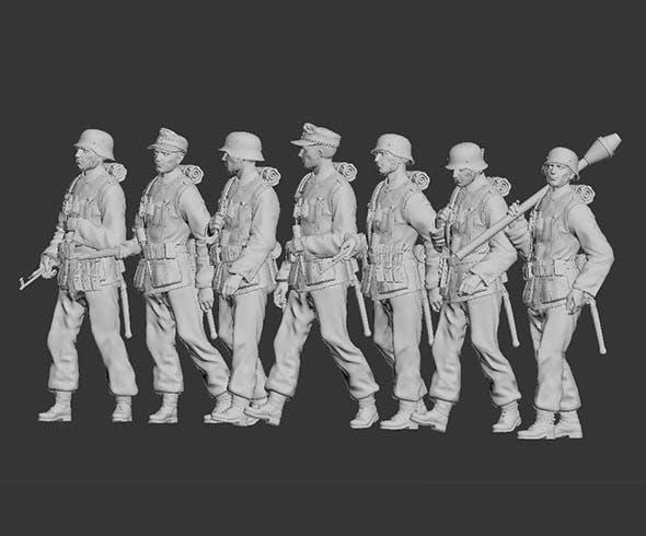 German Soldiers - 3DOcean Item for Sale