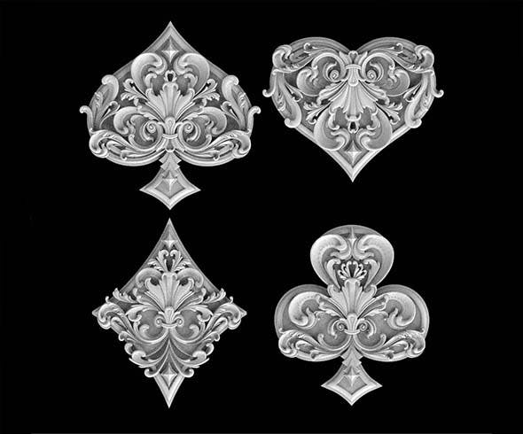 spades clubs hearts diamonds - 3DOcean Item for Sale
