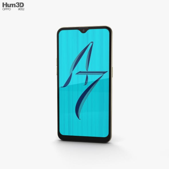 Oppo A7 Glaring Gold - 3DOcean Item for Sale