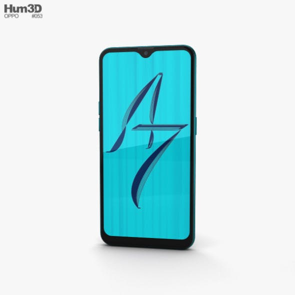 Oppo A7 Glaze Blue - 3DOcean Item for Sale