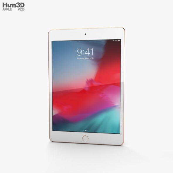 Apple iPad mini (2019) Cellular Gold - 3DOcean Item for Sale