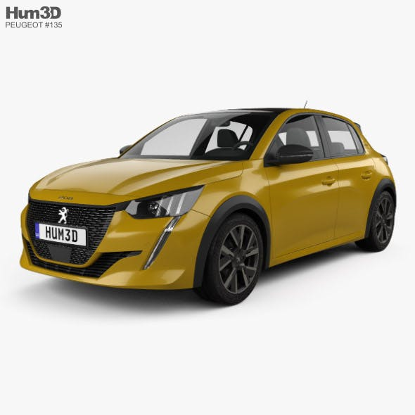 Peugeot 208 GT-Line 2019 - 3DOcean Item for Sale