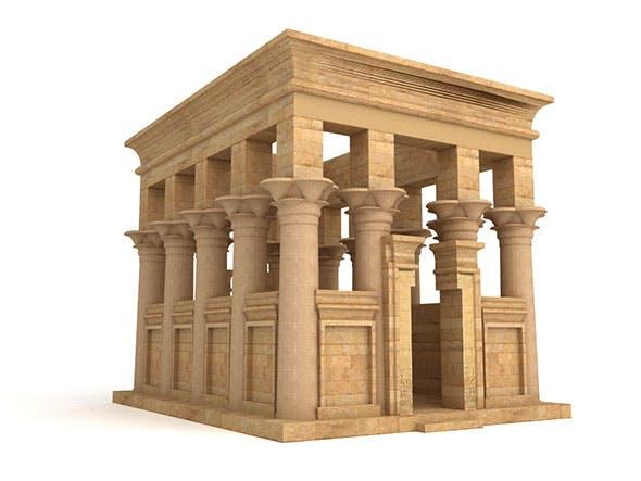 Egyptian Temple of Philae Trajan Kiosk - 3DOcean Item for Sale