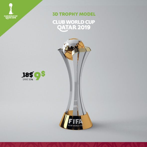 Club World Cup Trophy 3D Model