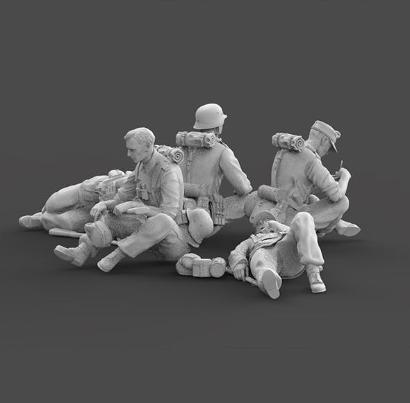 german soldier rest - 3DOcean Item for Sale