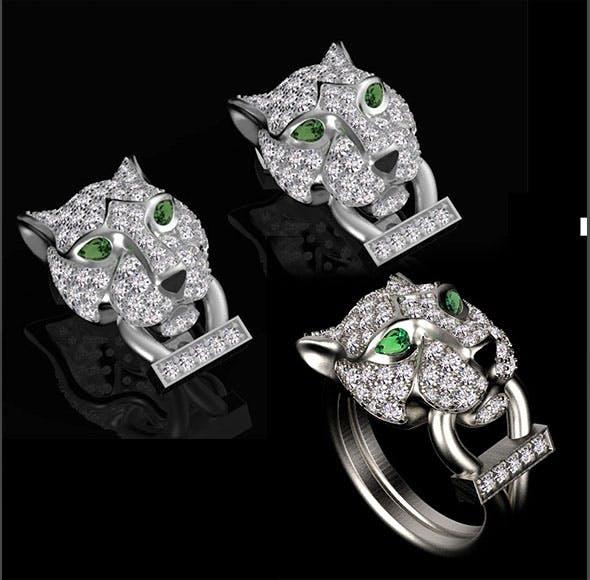Cartier earrings ring - 3DOcean Item for Sale