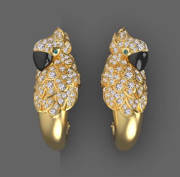 earrings cartier - 3DOcean Item for Sale