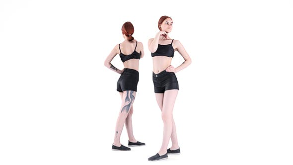 Sexy lady posing 95 - 3DOcean Item for Sale