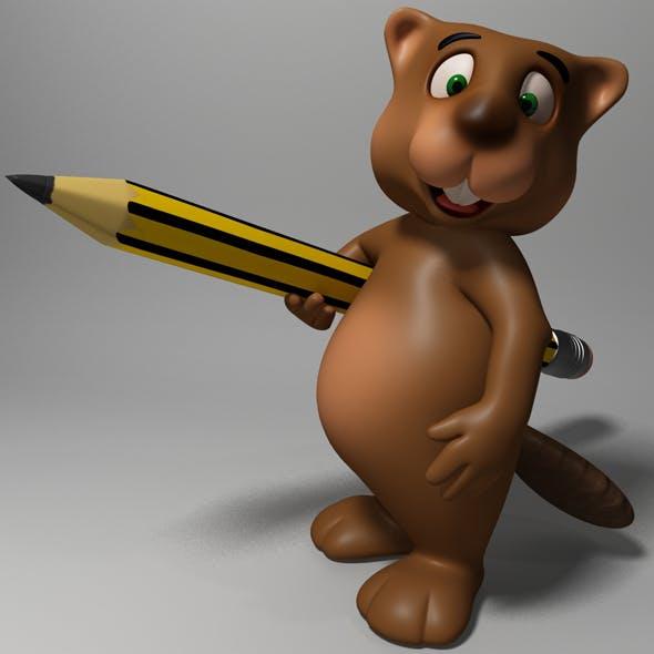 Cartoon beaver rigged - 3DOcean Item for Sale
