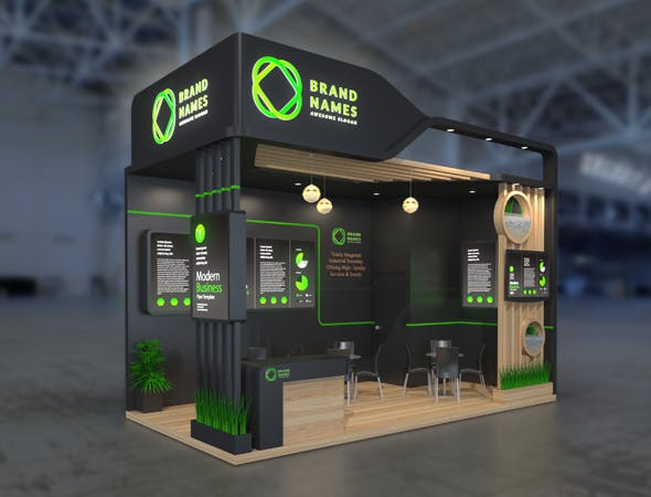 3d exhibition stand model - 3DOcean Item for Sale