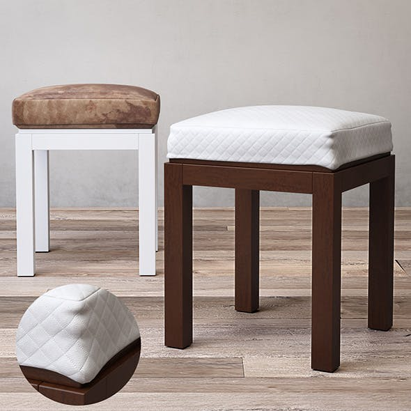 HUTTON BATH STOOL - 3DOcean Item for Sale