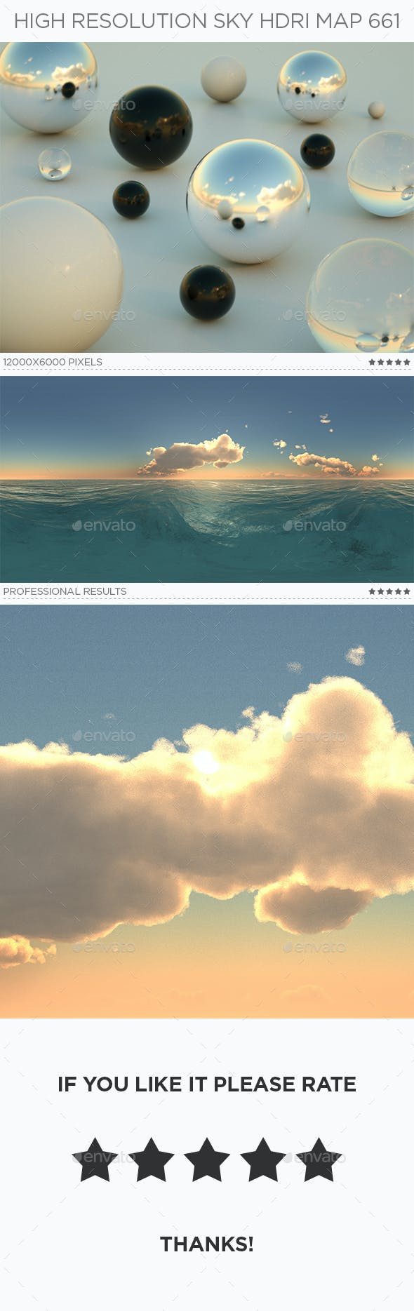 High Resolution Sky HDRi Map 661 - 3DOcean Item for Sale