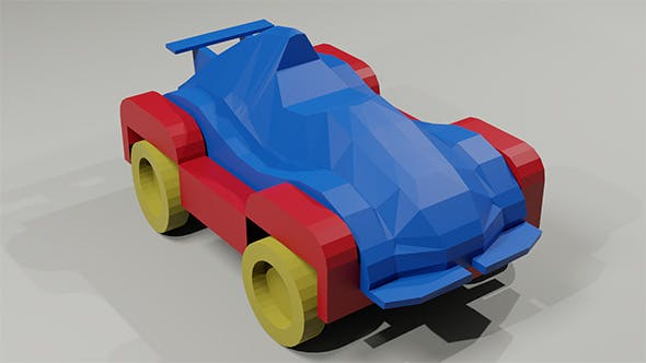Toy low-poly Racing Car - 3DOcean Item for Sale