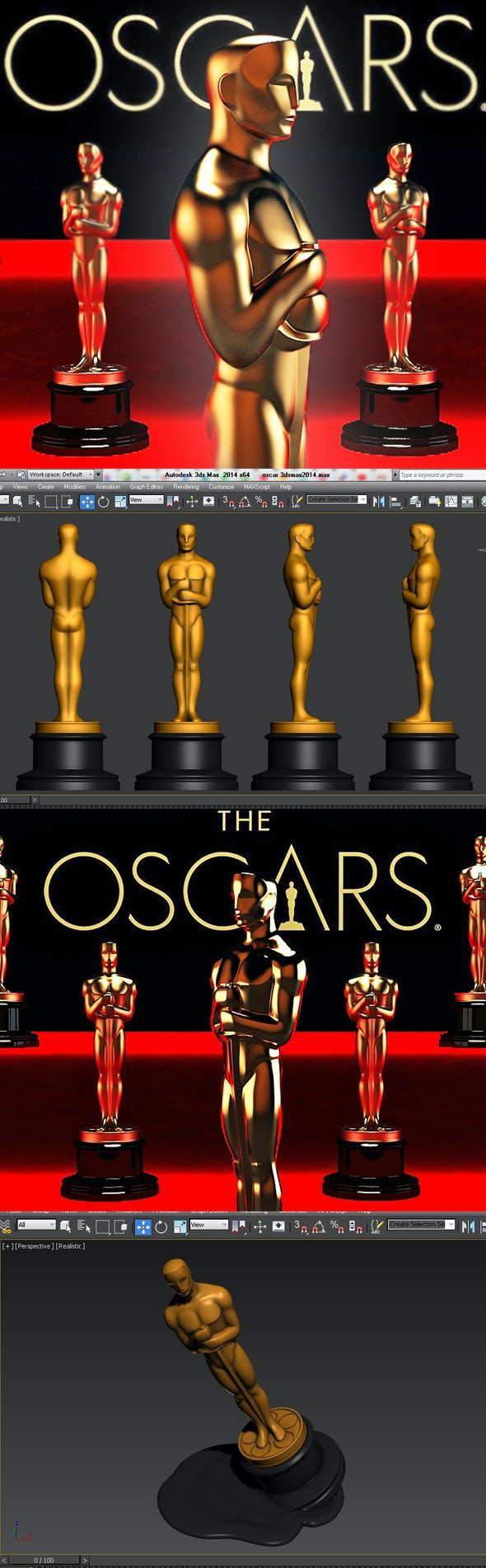 Oscar statuette and bonus - 3DOcean Item for Sale