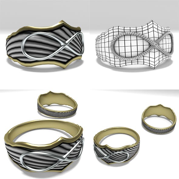 Infinity Ring - 3DOcean Item for Sale