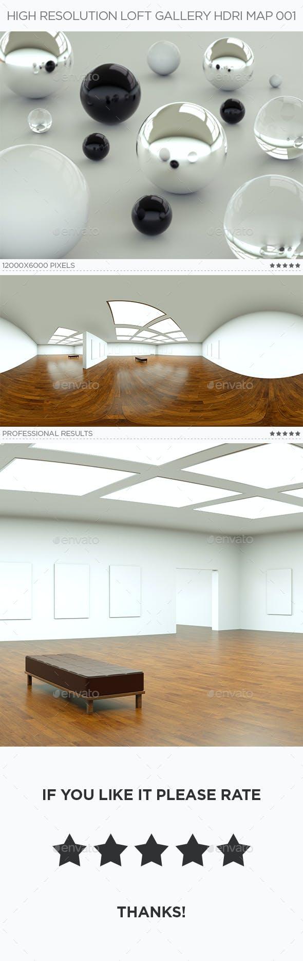 High Resolution Loft Gallery HDRi Map 001 - 3DOcean Item for Sale