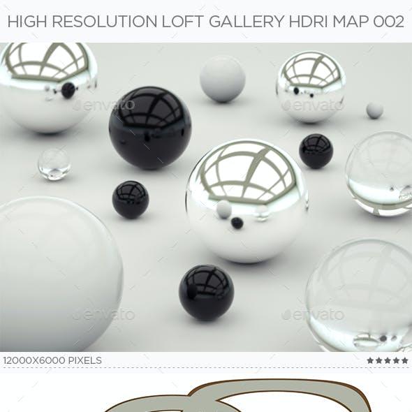 High Resolution Loft Gallery HDRi Map 002
