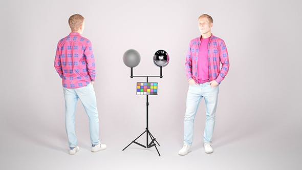 Stylish man in a plaid shirt 23 - 3DOcean Item for Sale