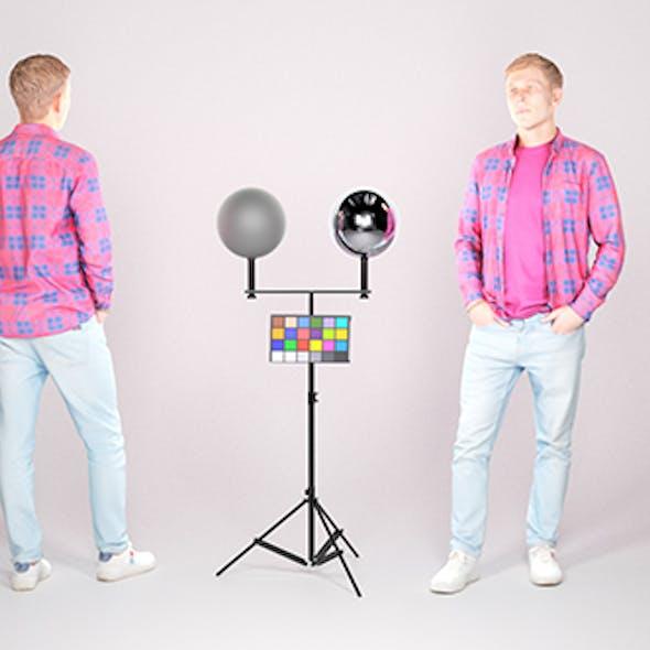 Stylish man in a plaid shirt 23