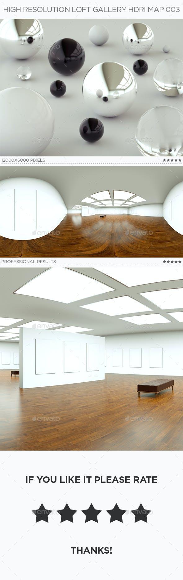 High Resolution Loft Gallery HDRi Map 003 - 3DOcean Item for Sale