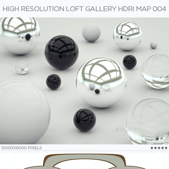 High Resolution Loft Gallery HDRi Map 004