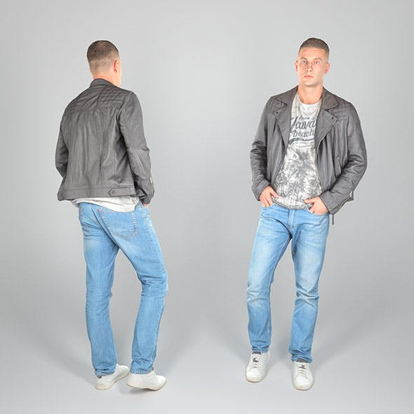 Stylish man in a leather jacket 26 - 3DOcean Item for Sale
