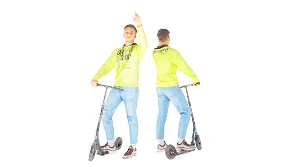 Young man on a sсooter 27 - 3DOcean Item for Sale