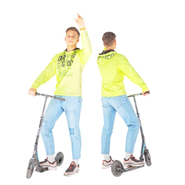 Young man on a sсooter 27